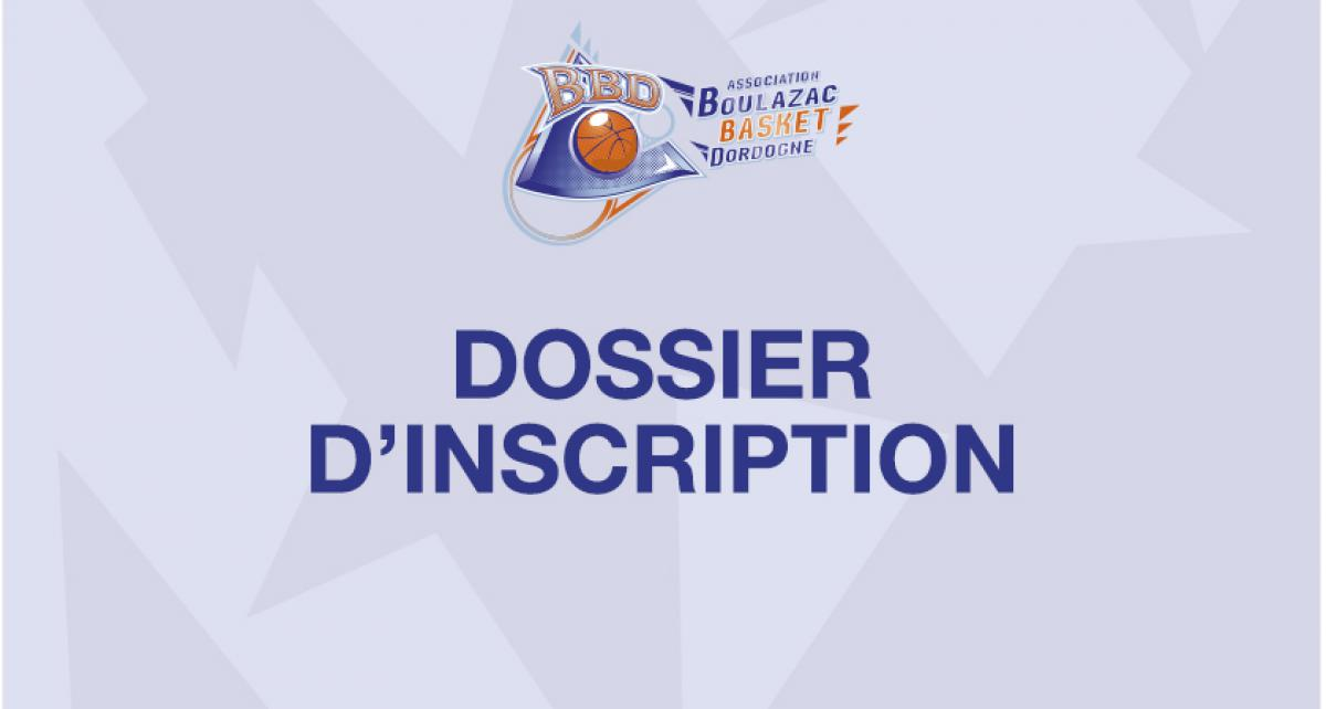 Dossier d'inscription saison 2019-2020