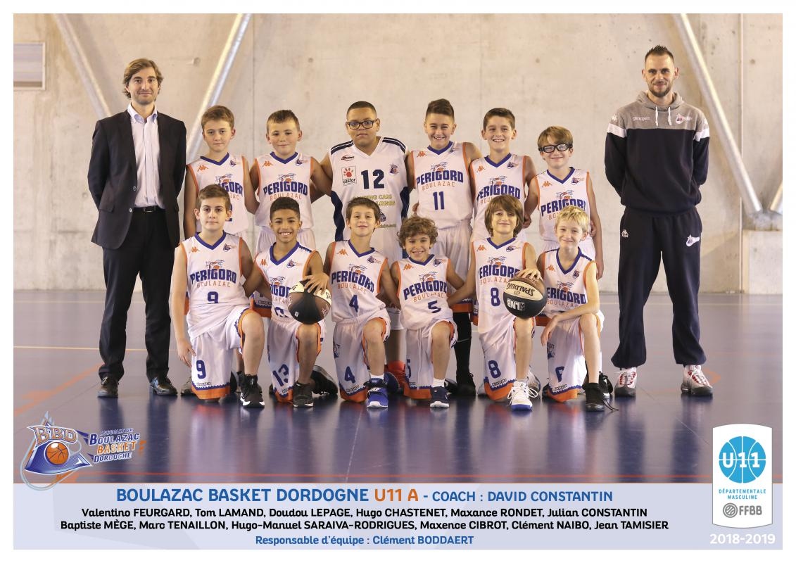 BOULAZAC U11 A - DÉPARTEMENT - Boulazac Basket Dordogne association