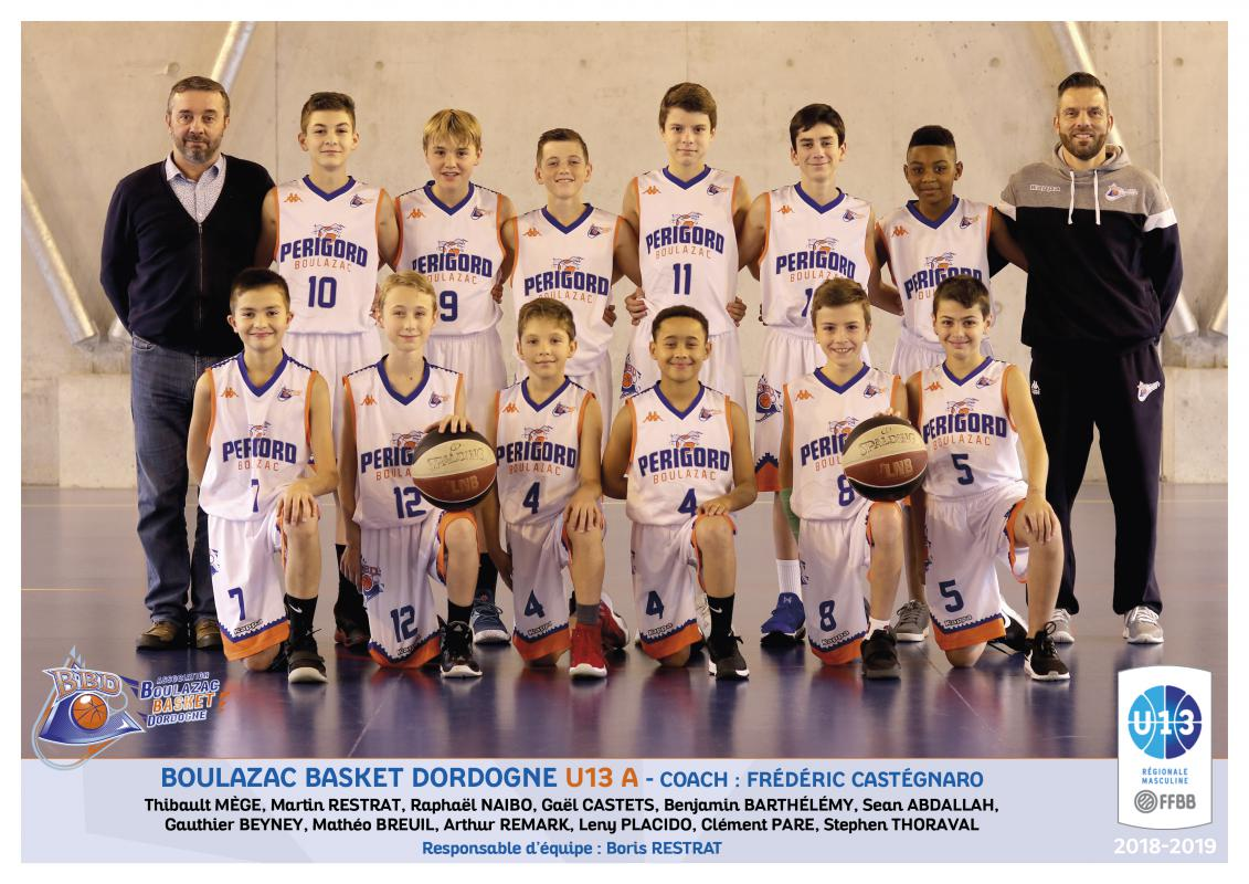 BOULAZAC U13 A - RÉGION - Boulazac Basket Dordogne association